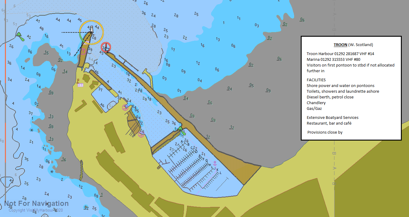 Troon Scotland Map.Troon Harbour And Yacht Haven Expanded View West Scotland And